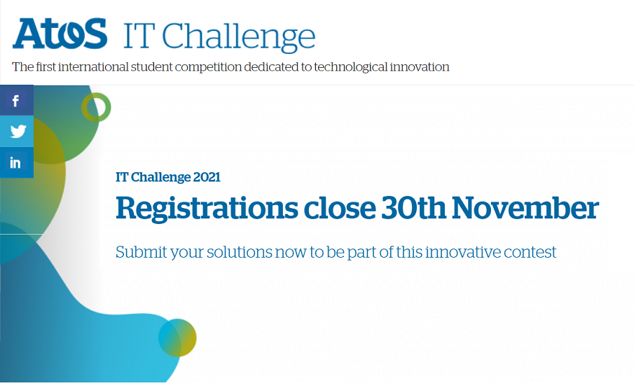 Atos IT Challenge 2021 is BACK!