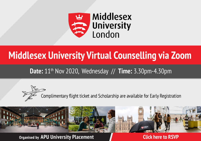 Middlesex University Virtual Counselling