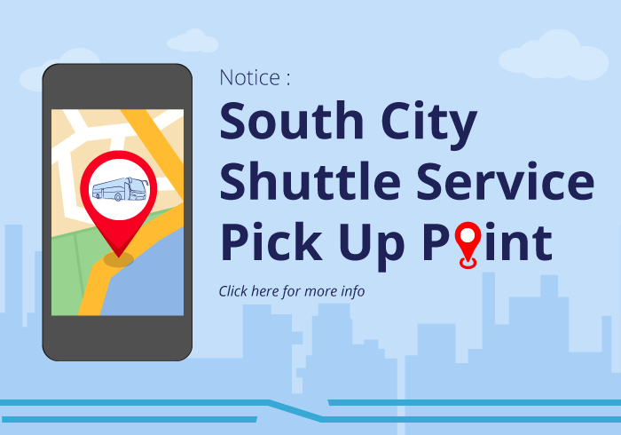 South City Shuttle Service Pick Up Point