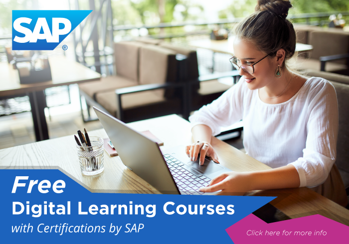 SAP offers Free Digital Learning Courses with Certifications for APU students