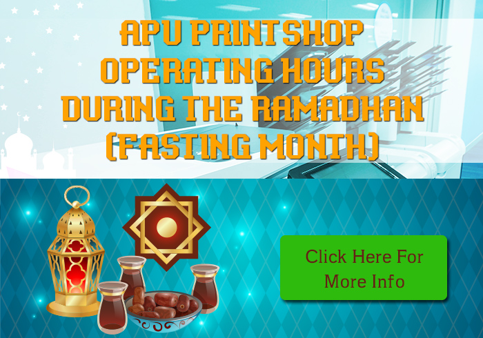 Operation Hour for Printshop during Ramadhan