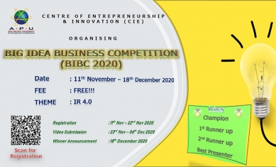 BIG IDEA BUSINESS COMPETITION  (BIBC 2020)
