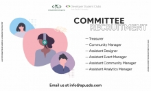 APU Student Developer Society Committee Recruitment