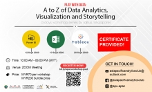 Play with Data: A to Z of Data Analytics, Visualization and Storytelling